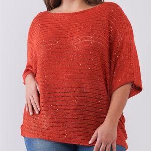 🆕️ PLUS Sequin Sweater Top